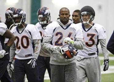 The Super Bowl wait is over for Bronco Champ Bailey (24).